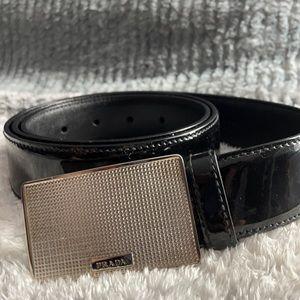 Prada black patent leather